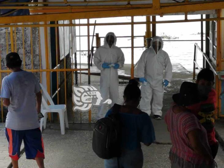 Sin medidas sanitarias el paso de lanchas de Villa Allende a Coatzacoalcos