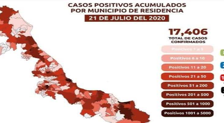 Nuevo récord de muertes por Coronavirus en Veracruz; 80 en 24 horas