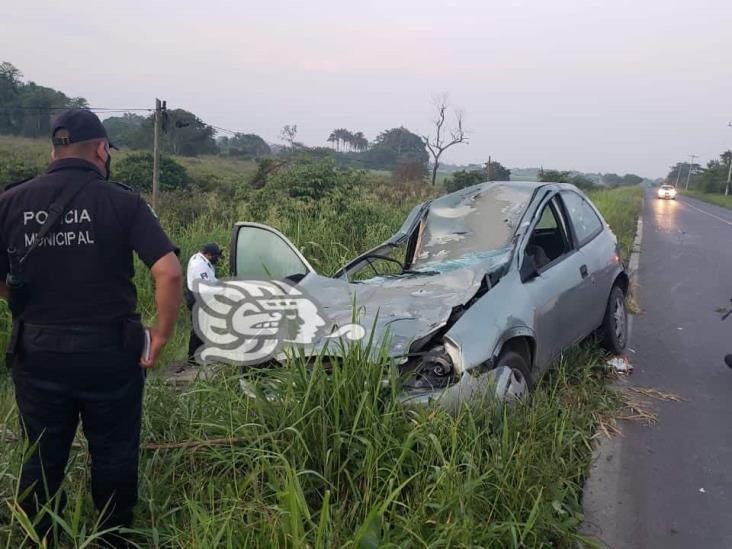 Vaca provoca accidente en carretera federal 175 de Cosamaloapan