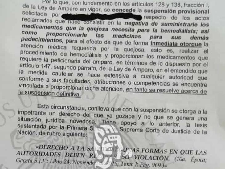 Juez ordenó al IMSS de Minatitlán entregar hemodiálisis a derechohabiente