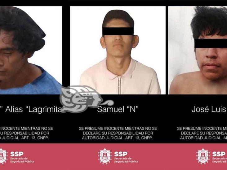 Aprehende SSP a tres por homicidio y portación de armas en Las Choapas y Agua Dulce