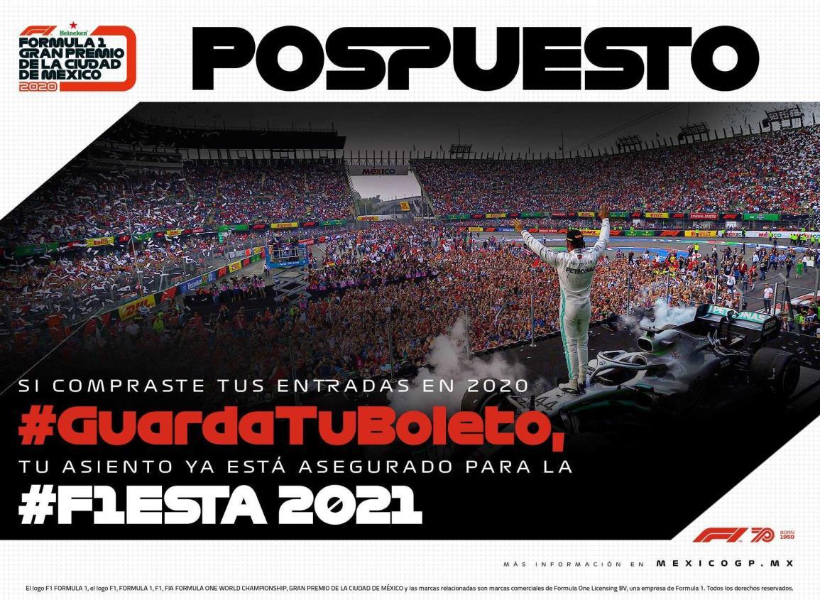 Por COVID-19 no habrá Gran Premio de México este 2020