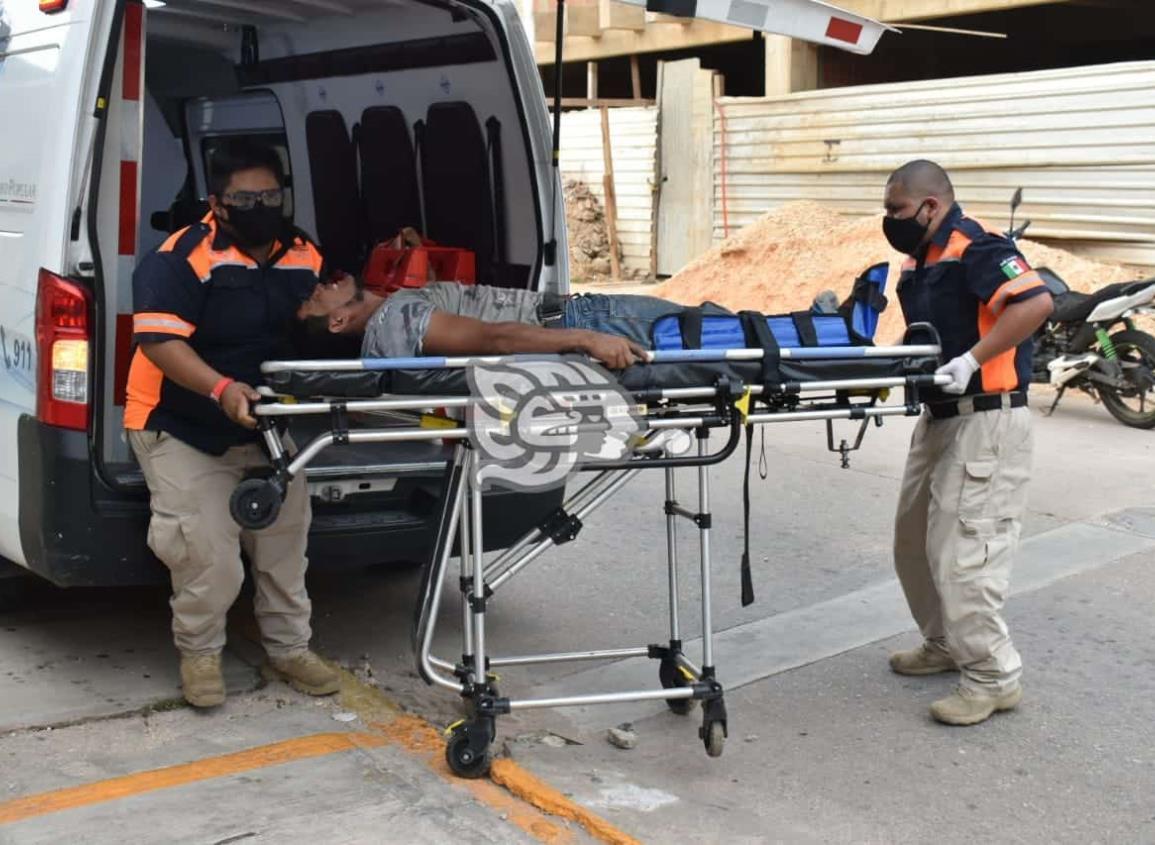 Salvadoreño se accidenta mientras trabajaba en Acayucan