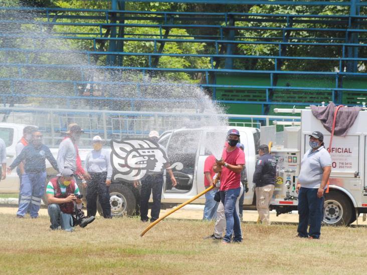 Capacitan a elementos de PC del sur de Veracruz contra incendios