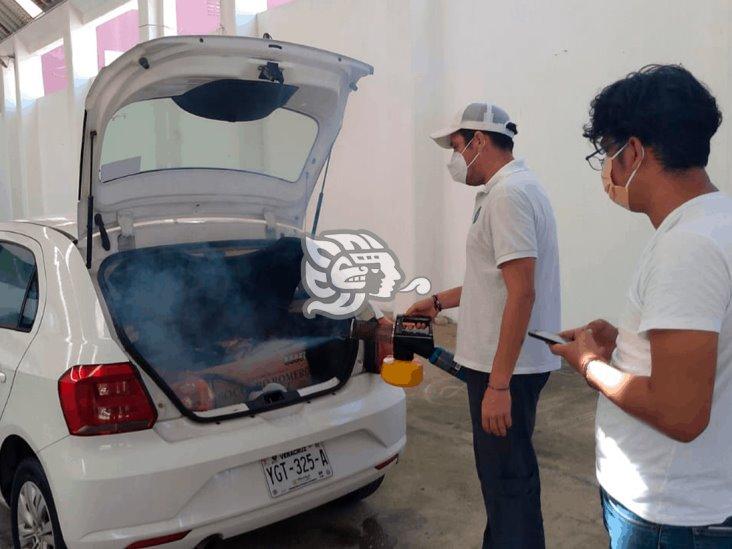 Jornada de desinfección gratuita a coches particulares en Coatza