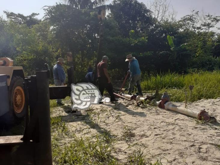 En Cosoleacaque, Caev cambió bomba y motor del pozo uno
