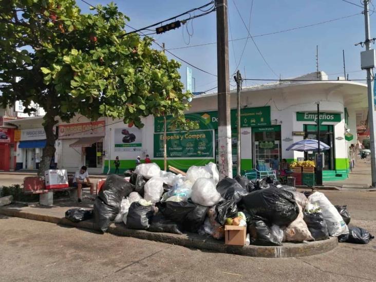 Ignoran petición de no sacar basura a las calles de Coatzacoalcos