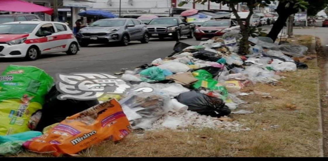Limpia pública recolecta toneladas de basura del mercado Morelos