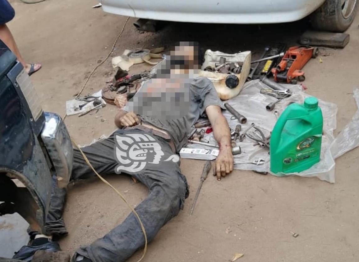 Ejecutan a padre e hijo en taller mecánico de Rodríguez Clara