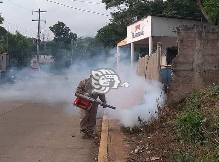 Fumigan basurero, rastros y plantas tratamiento en Tatahuicapan