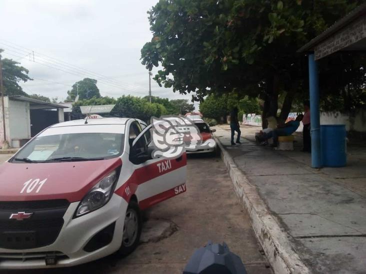 Taxistas de San Juan Evangelista piden despensas