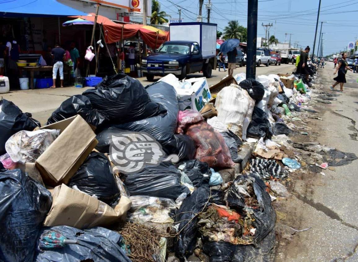 Reanudan labores en tiradero de Villa Allende; limpia pública retira basura de Coatza