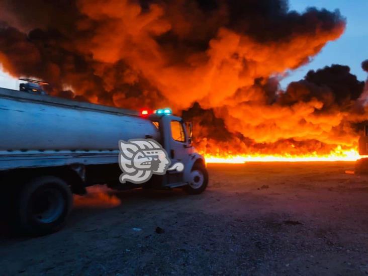 Alarmante incendio se generó en Cosoleacaque