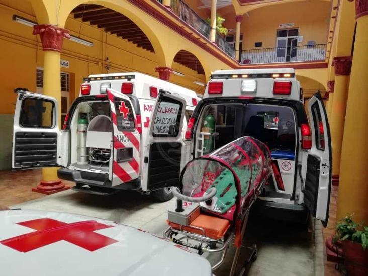 Cuatro elementos de Cruz Roja en Orizaba, sospechosos de COVID-19