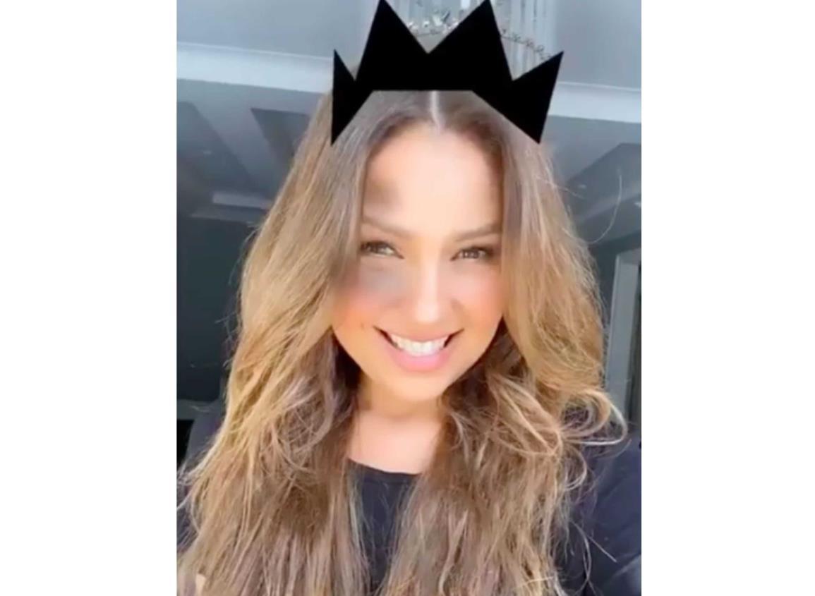 Thalía presume su propio filtro de María la del barrio en Instagram