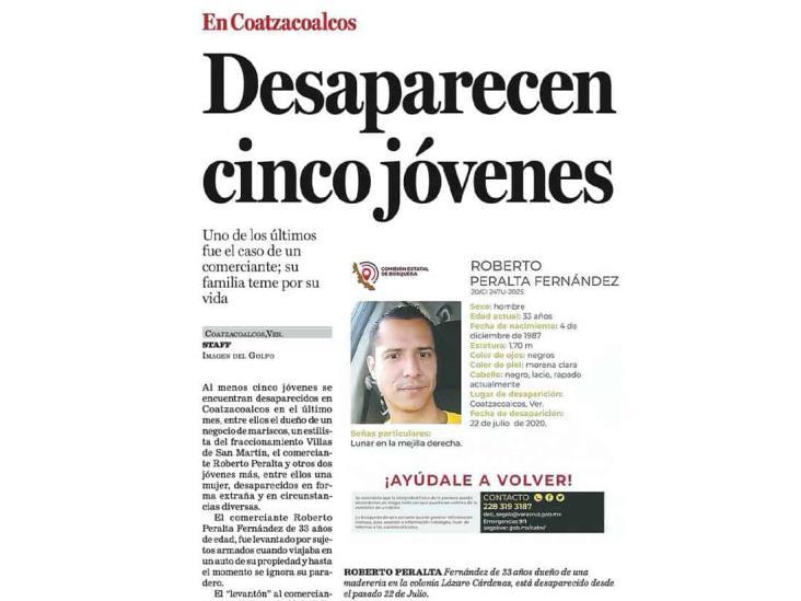 Encuentran con vida a hombre desaparecido en Coatzacoalcos