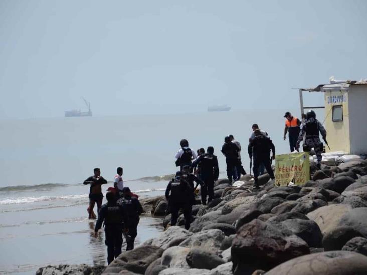 Bulto envuelto en plástico y amarrado genera movilización en playas de Veracruz