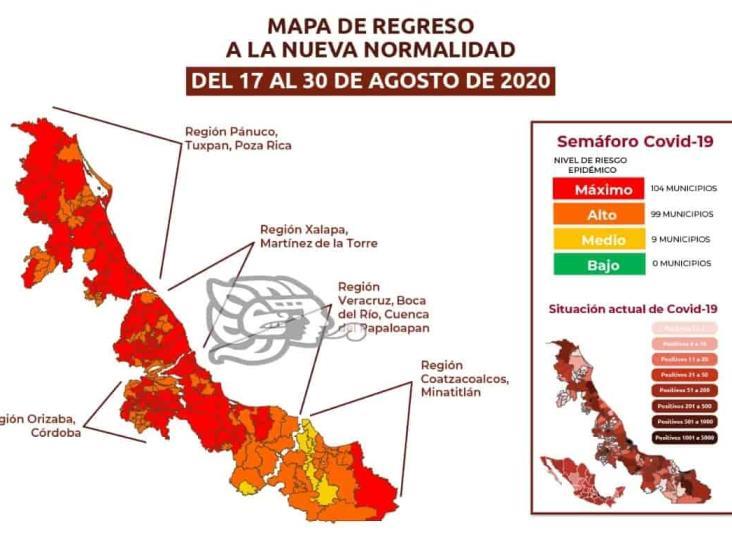 Del semáforo rojo Coatza pasará a naranja con otros municipios del Sur