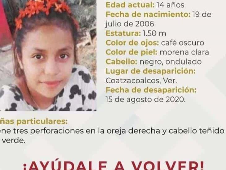 Reportan desaparecida a jovencita de 14 años en Coatzacoalcos