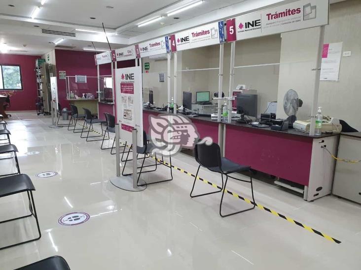 Módulo del INE en Coatzacoalcos reanuda sus servicios