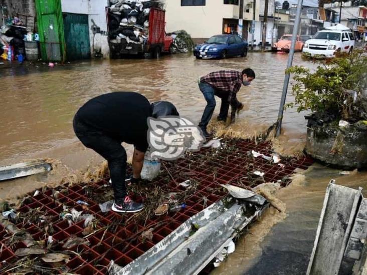 Temporal lluvioso afectó a 19 municipios de Veracruz