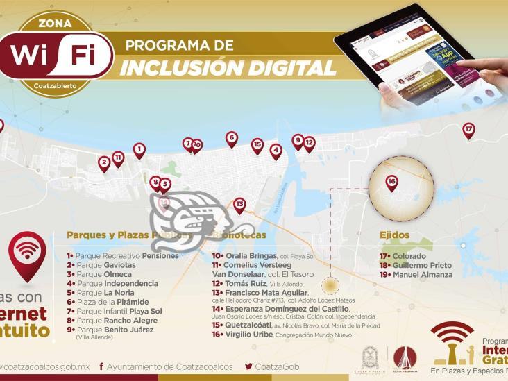 Impulsa Carranza Programa de Internet Gratuito en Plazas y Espacios Públicos