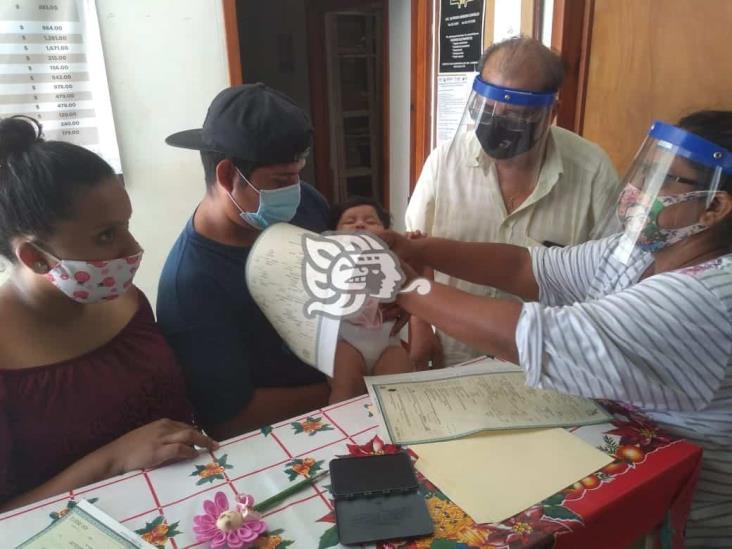 Registro Civil de Agua Dulce labora respetando protocolos de higiene