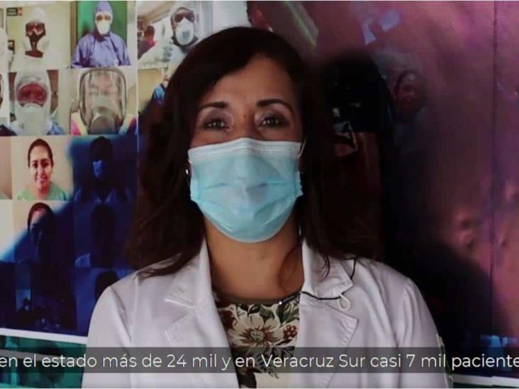 Delegación Veracruz sur registra 7 mil casos de Covid-19