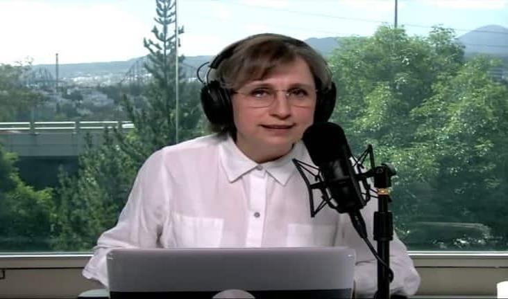 Refuta Aristegui cinismo de Calderón con libertad de prensa