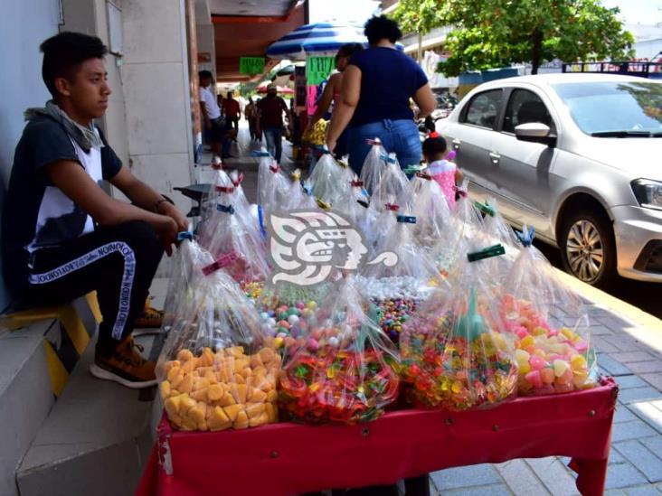 Prohibición de comida chatarra no afectará a dulceros de Coatza, aseguran