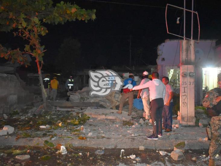 Se registra fuerte explosión en Soconusco; una vivienda destruida