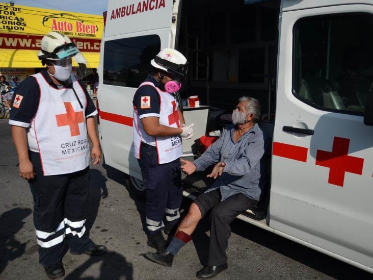 Chocan camioneta y moto en avenida de Veracruz; deja una persona lesionada
