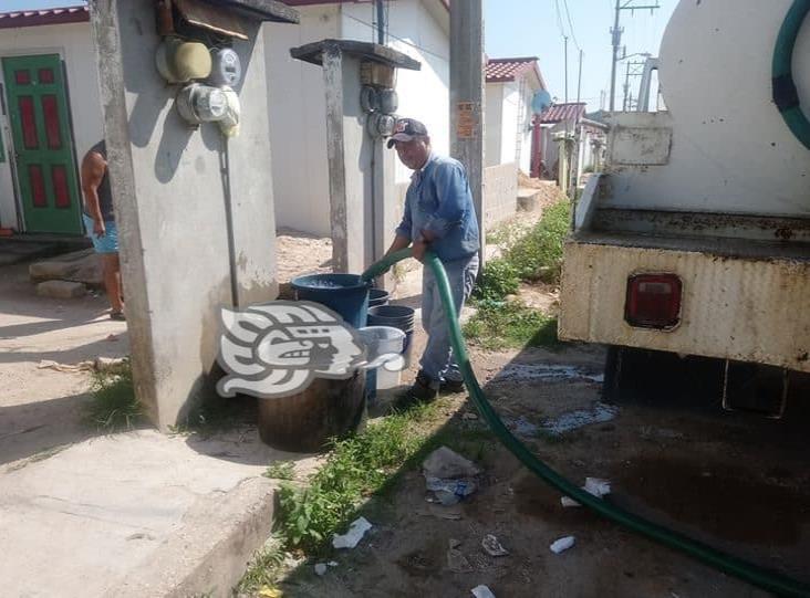 En plena pandemia, colonos de Las Choapas no tienen agua