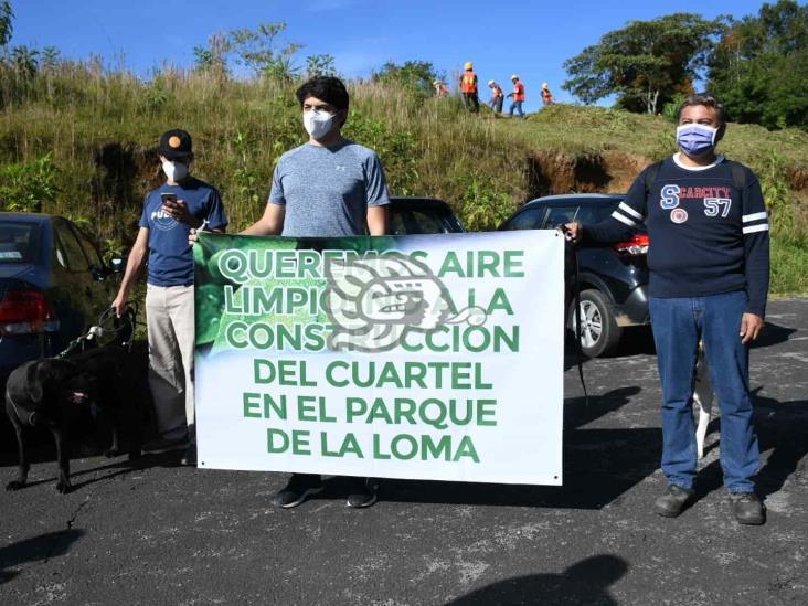Protestan contra obra de cuartel de la Guardia Nacional en Xalapa