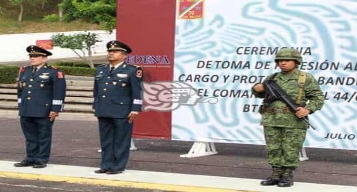 Darán posesión a nuevo comandante del 44 Batallón de Infantería