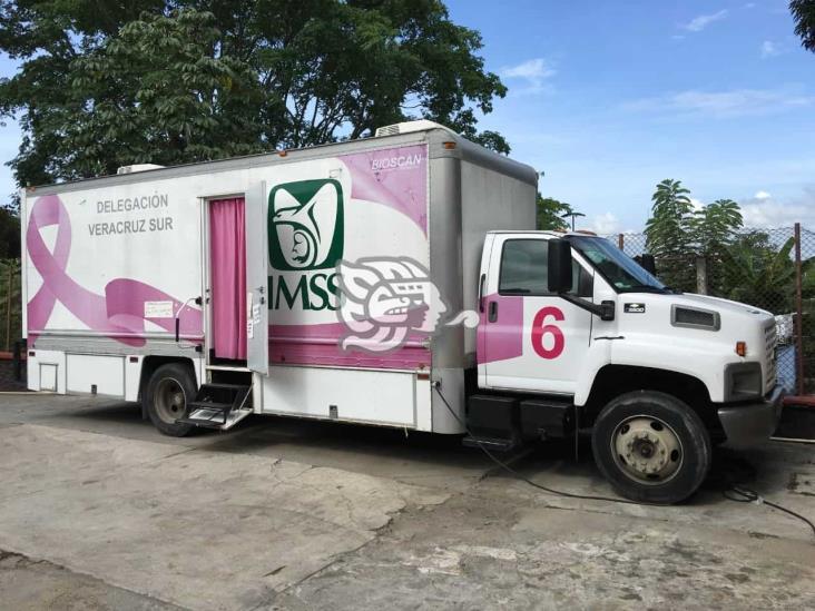 Unidades del IMSS en Coatzacoalcos activarán mastógrafos móviles