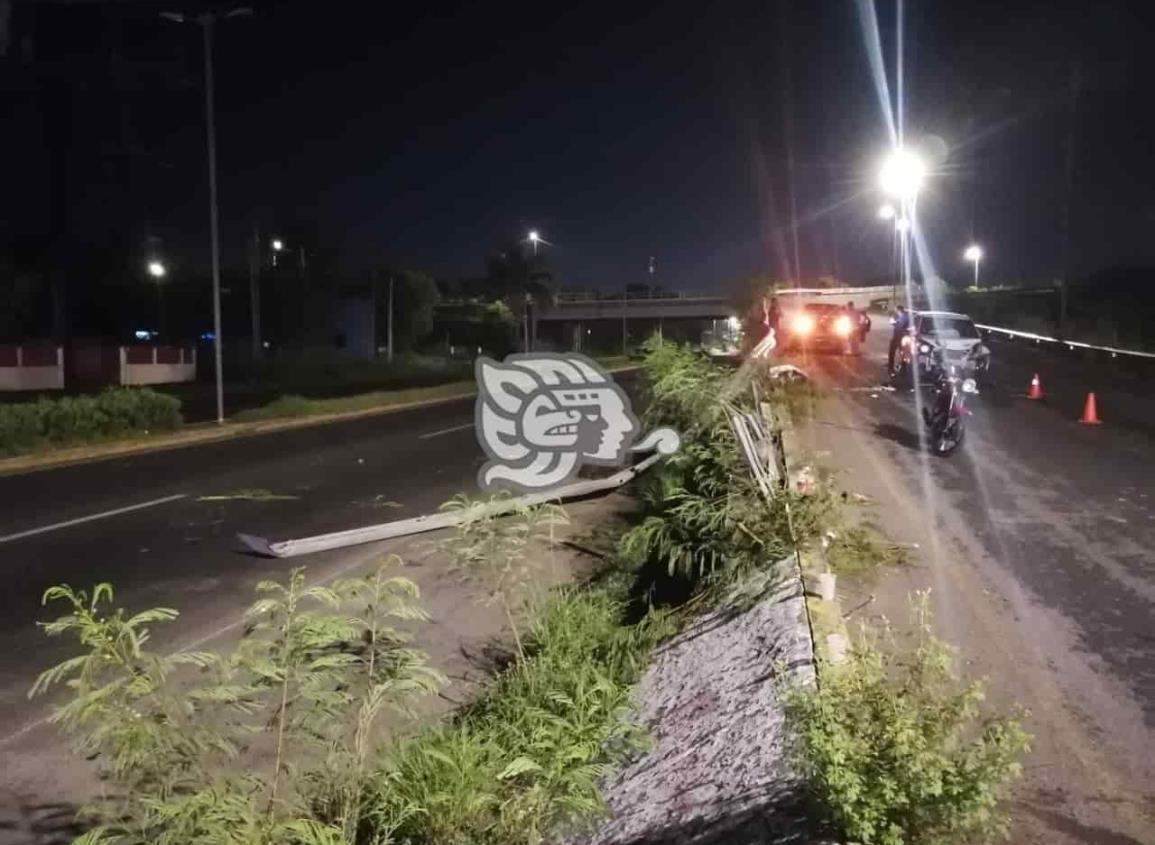 Se registra fuerte accidente sobre la carretera federal 140 Veracruz-Xalapa