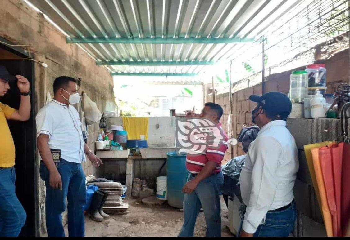 Impulsa Rolando Sinforoso techo firme para familias vulnerables
