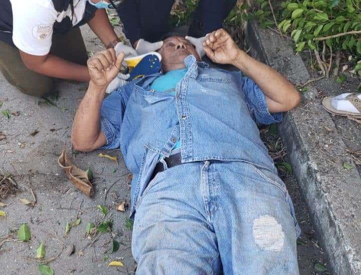 Senecto cae de un árbol de una altura de 3 metros en Cosamaloapan