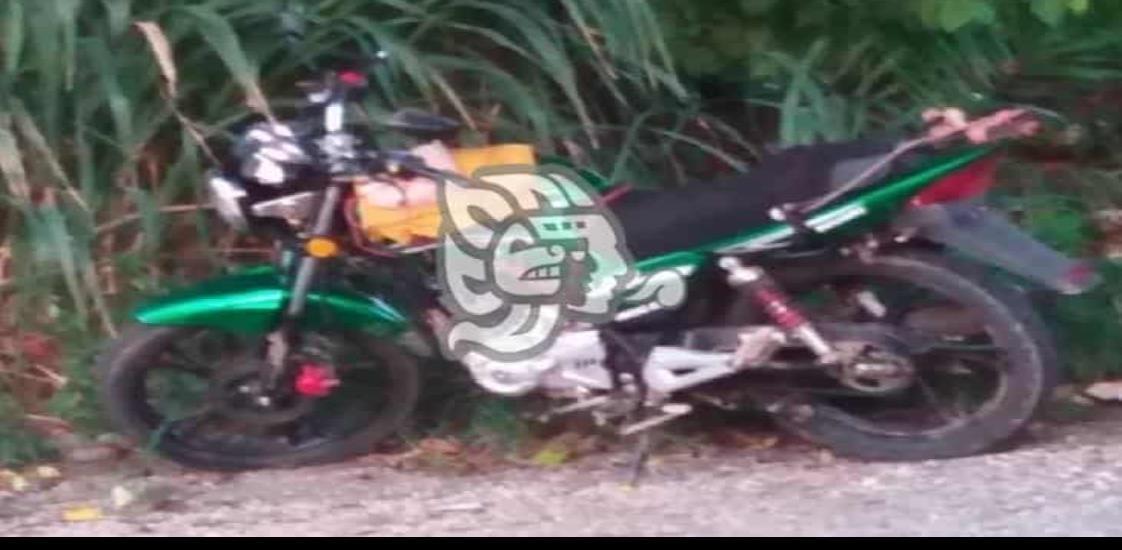 Matrimonio resulta con lesiones por choque de motocicletas
