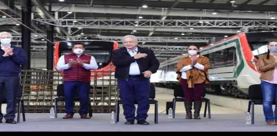 Supervisa AMLO avance de obras del Tren Interurbano México-Toluca