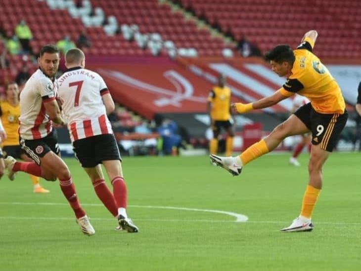 Jiménez anotó su primer gol de la temporada con Wolverhampton