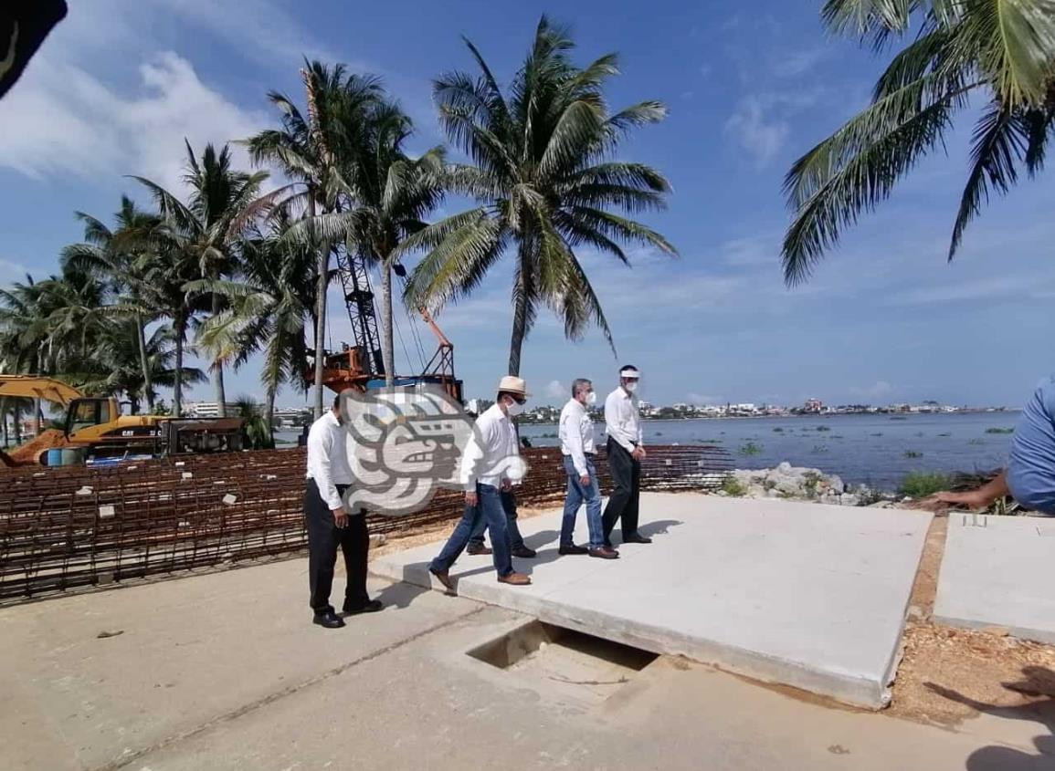 Avanza un 65% remodelación de malecón en Villa Allende