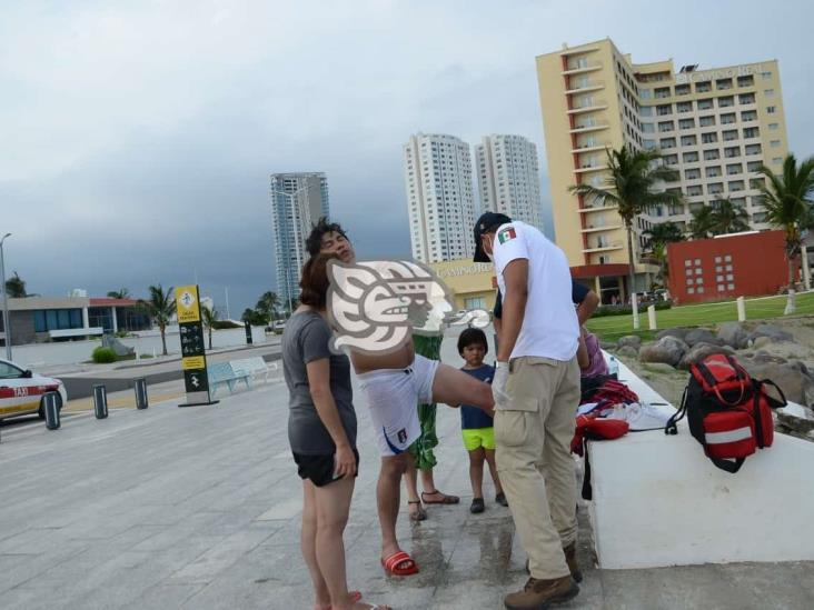Medusa le pica a turista en playas de Veracruz