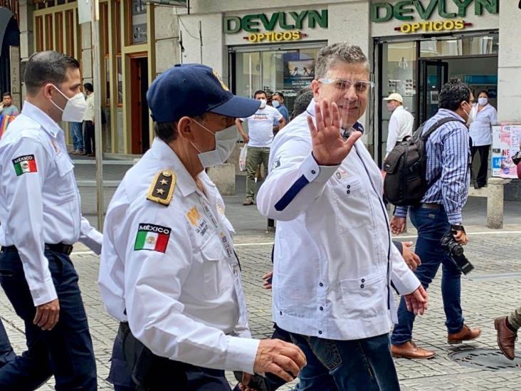 Supervisa Gutiérrez Maldonado operativo por fiestas patrias en Xalapa