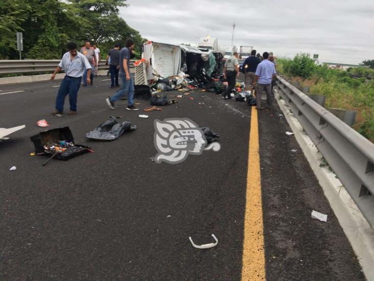 Fatal choque sobre autopista La Tinaja-Cosamaloapan