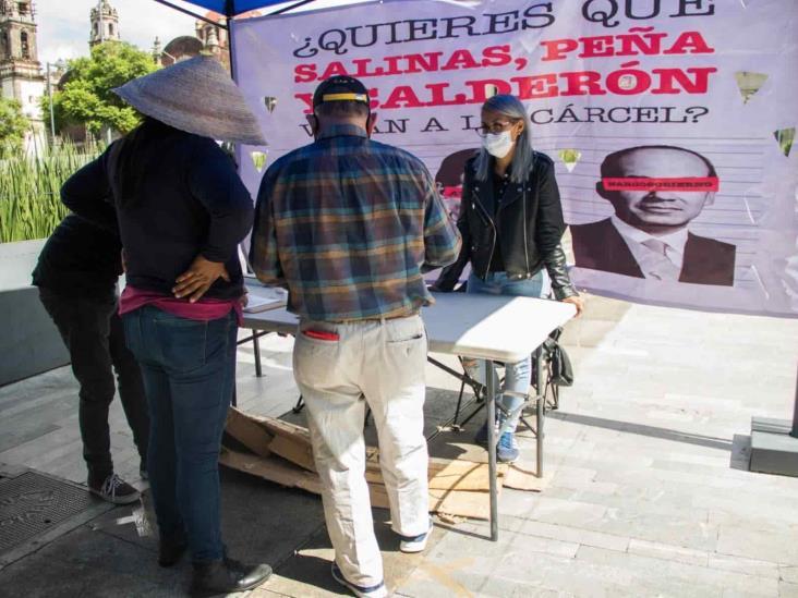 Recibe INE firmas sobre juicio a expresidentes para verificar consulta popular