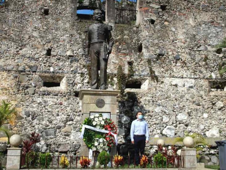 Regidor de Orizaba rindió homenaje a Porfirio Díaz