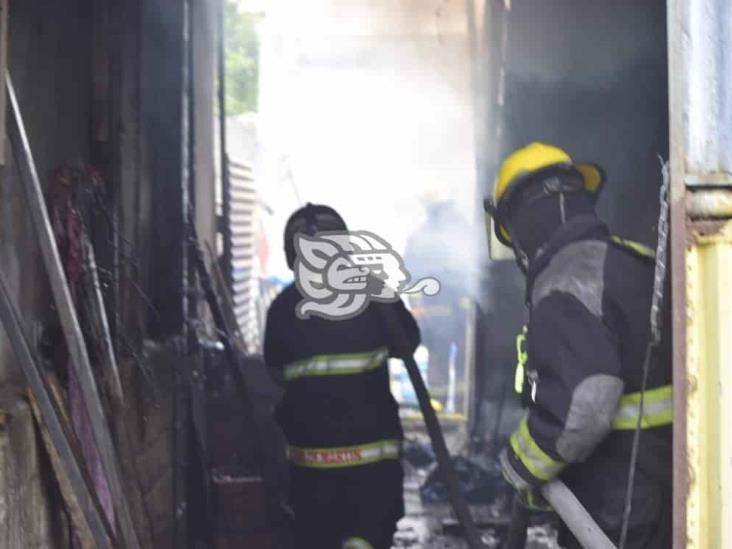 Se registra incendio al interior de vivienda en Veracruz