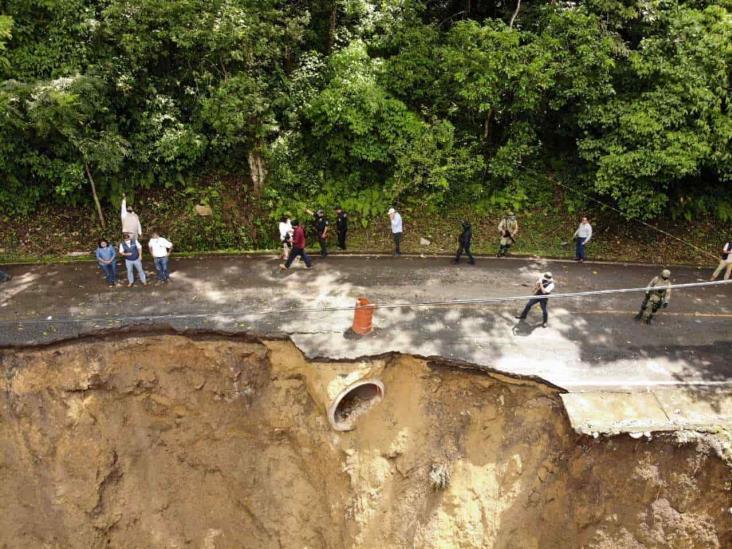 PC evalúa daños por lluvias en carreteras de zona centro